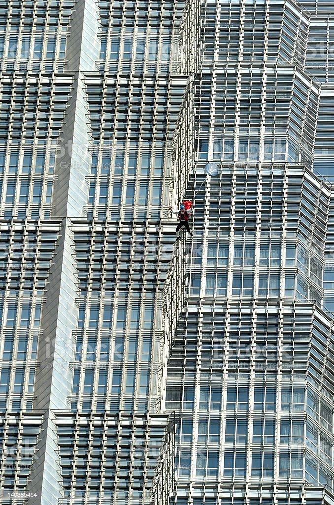 BASE Jump in Shanghai royalty-free stock photo
