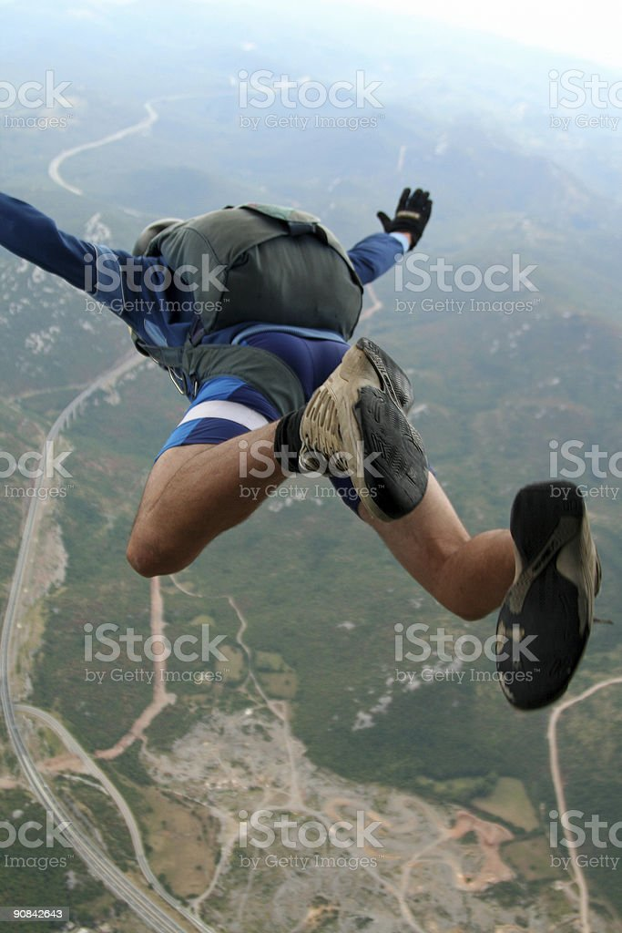 Jump in the abyss royalty-free stock photo