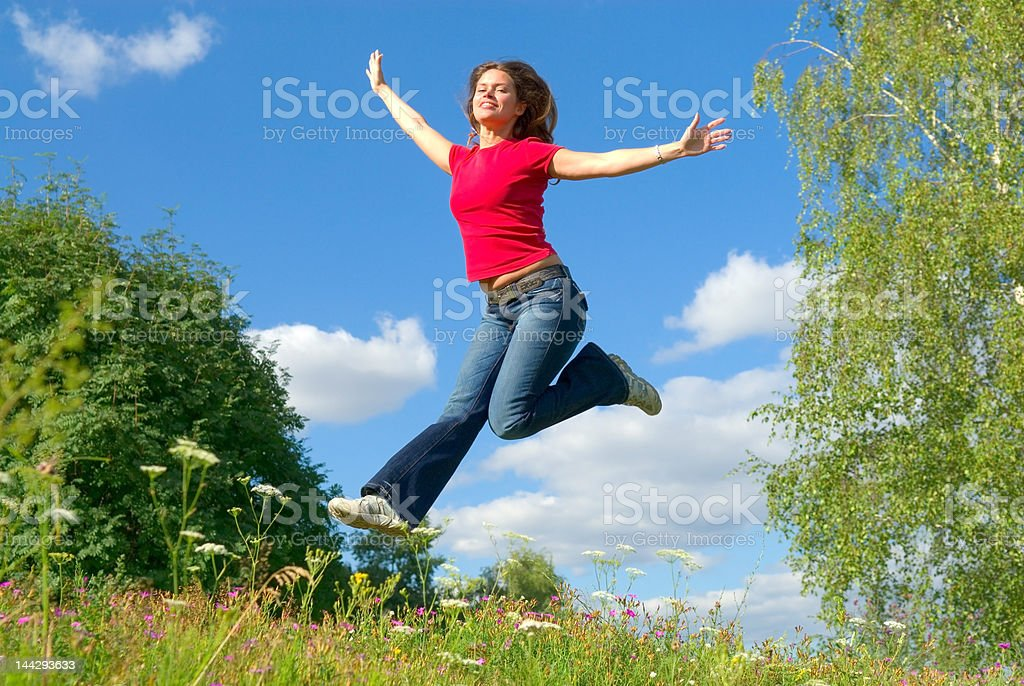 Jump into the sky (series) royalty-free stock photo