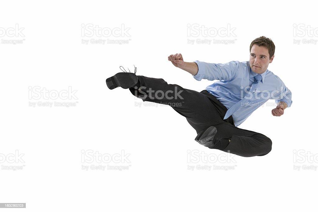 Jump kick 2 stock photo