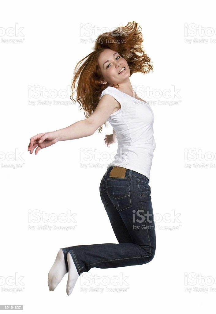 jump of joy royalty-free stock photo
