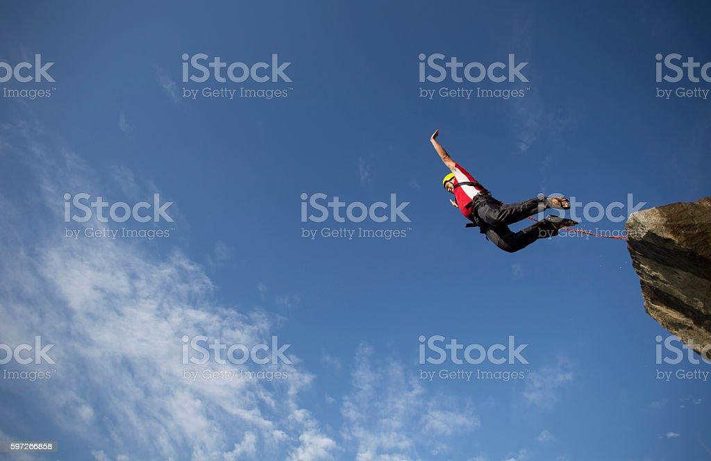 Jump off a cliff. Lizenzfreies stock-foto