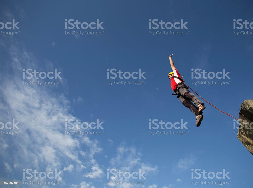 Jump off a cliff. royalty-free stock photo