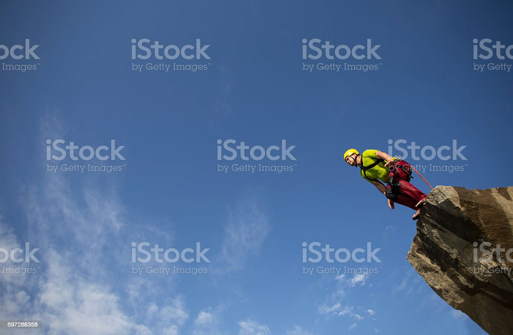 Jump off a cliff. Lizenzfreies stock-foto