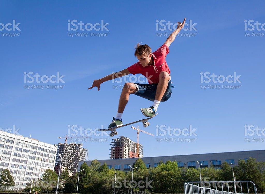jump on skateboard royalty-free stock photo
