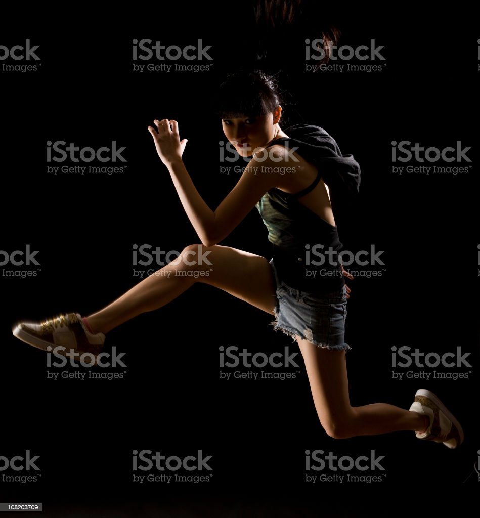 Jump over royalty-free stock photo