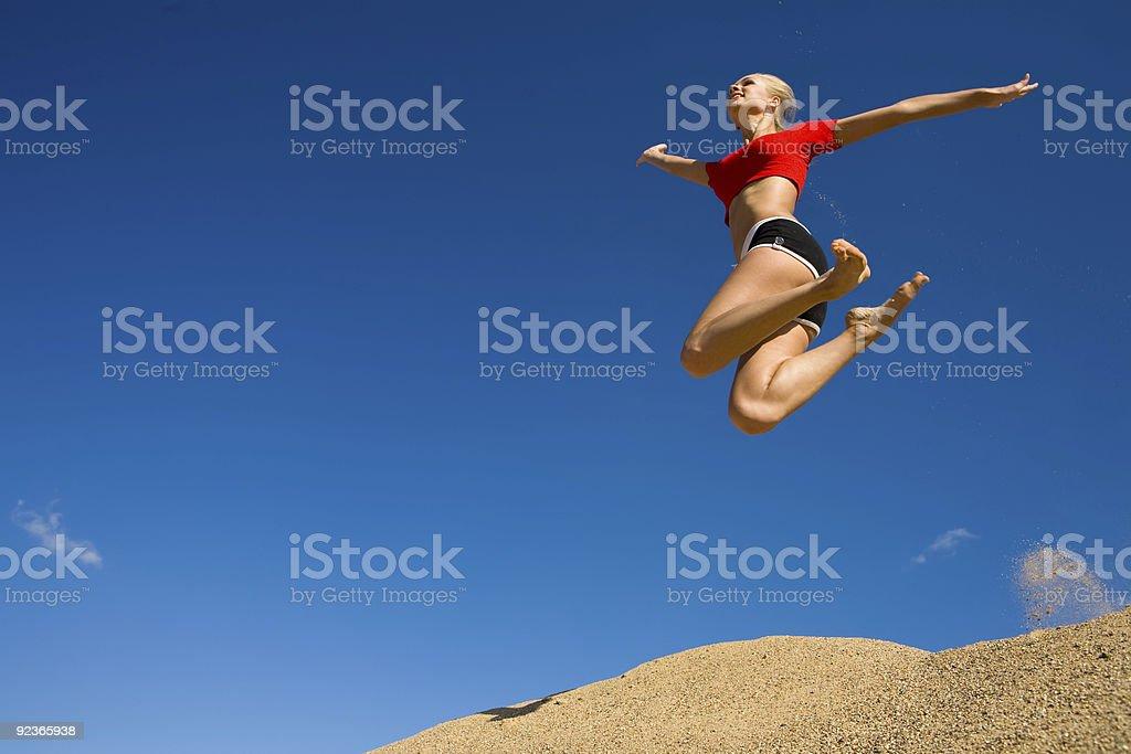 Jump royalty-free stock photo