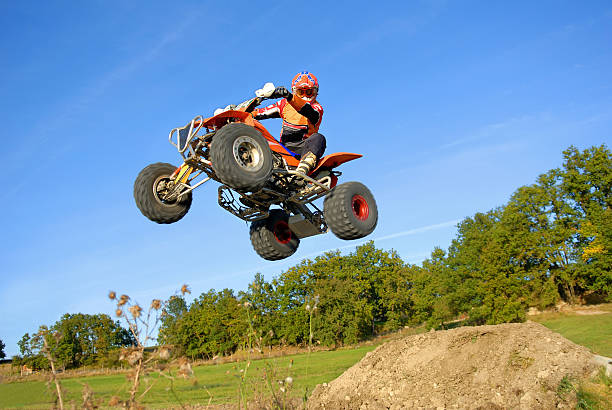 Jump quad. stock photo