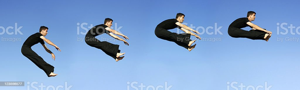 Jump Sequence royalty-free stock photo