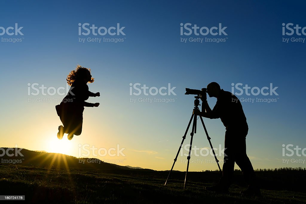 jump silhouette royalty-free stock photo