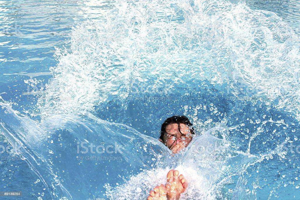 jump splashing pool royalty-free stock photo