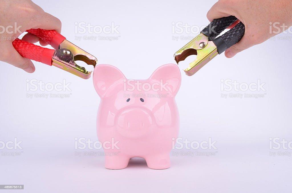 Jump Start My Savings stock photo