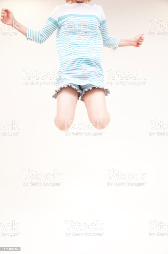 Jump to women royalty-free stock photo