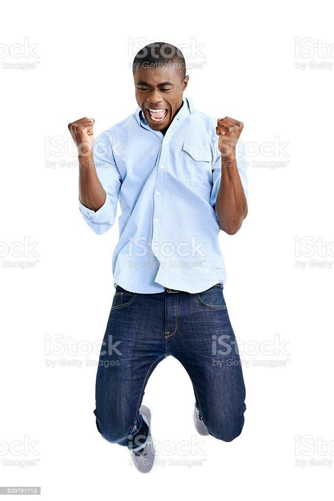 jumping african man stock photo