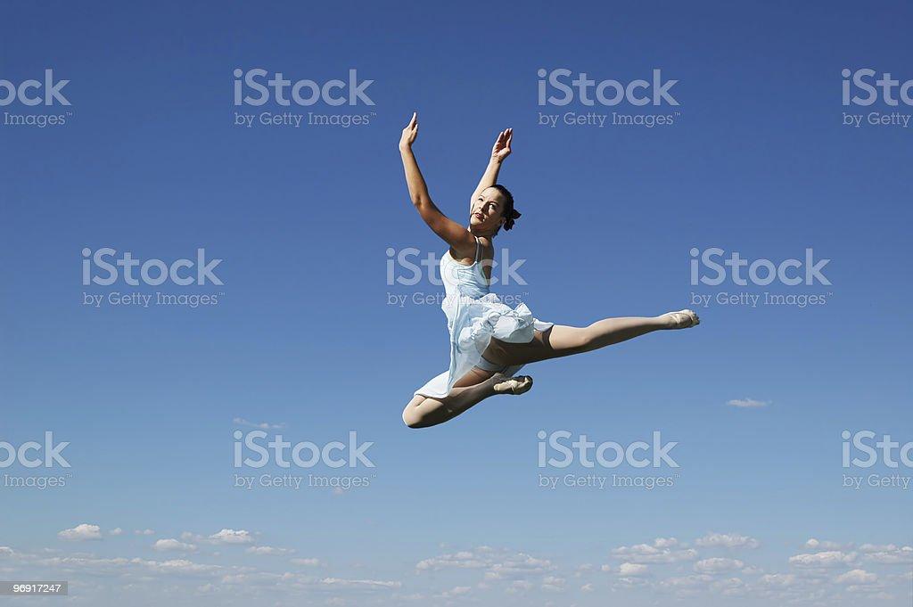 Jumping ballerina royalty-free stock photo