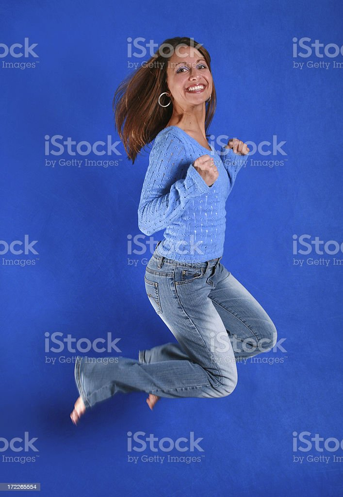 Jumping Beauty royalty-free stock photo