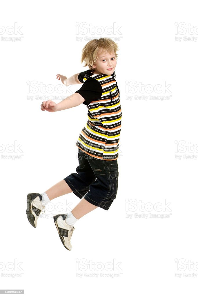 jumping boy royalty-free stock photo