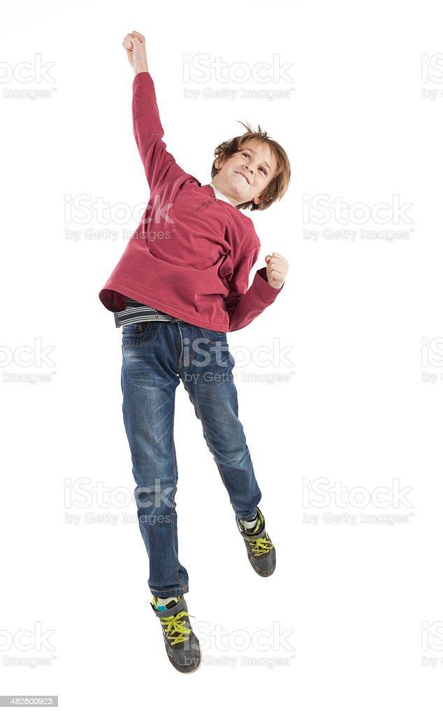 jumping Junge – Foto