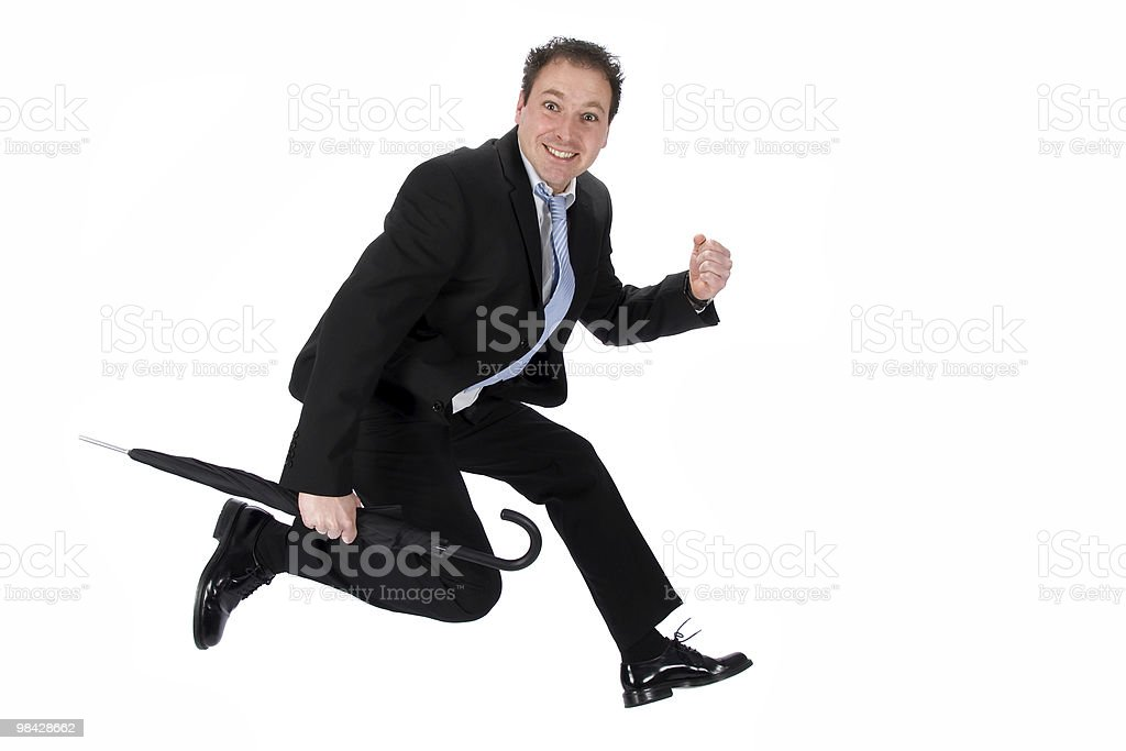 Jumping Businessman royalty-free stock photo