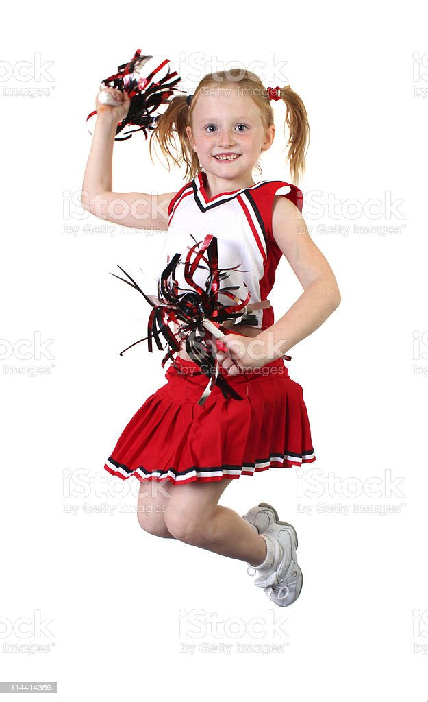 jumping cheerleader royalty-free stock photo