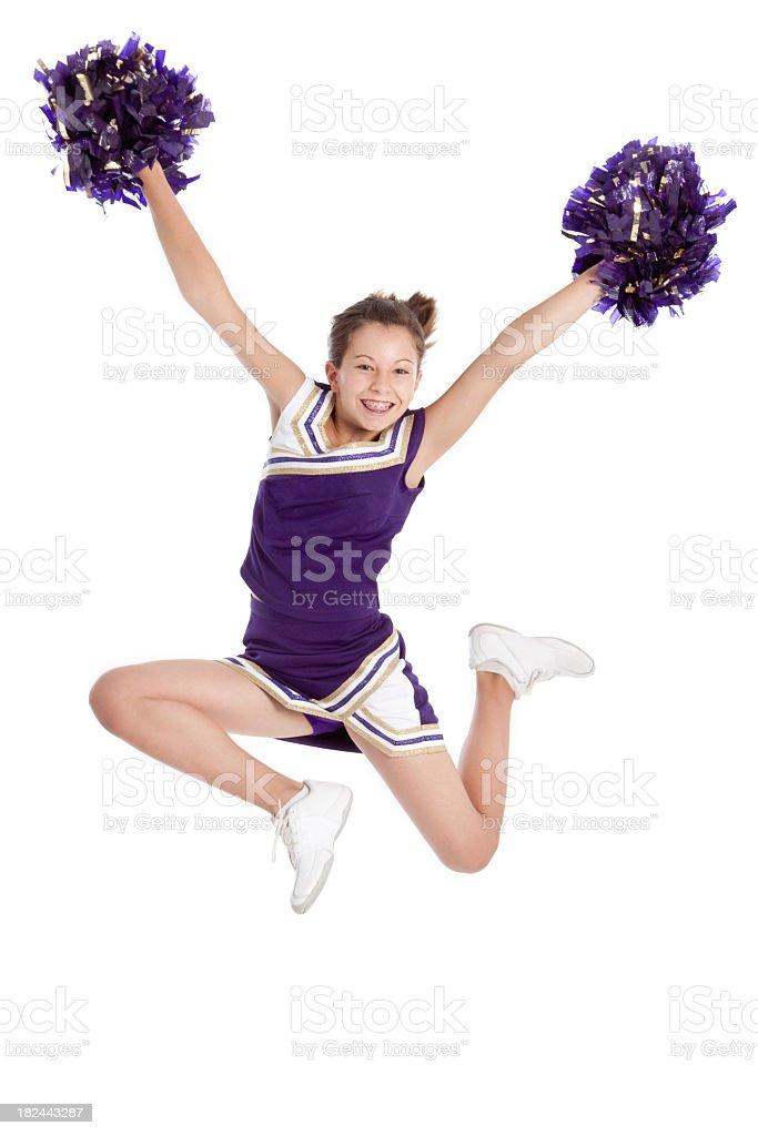 Jumping Cheerleader royalty-free stock photo
