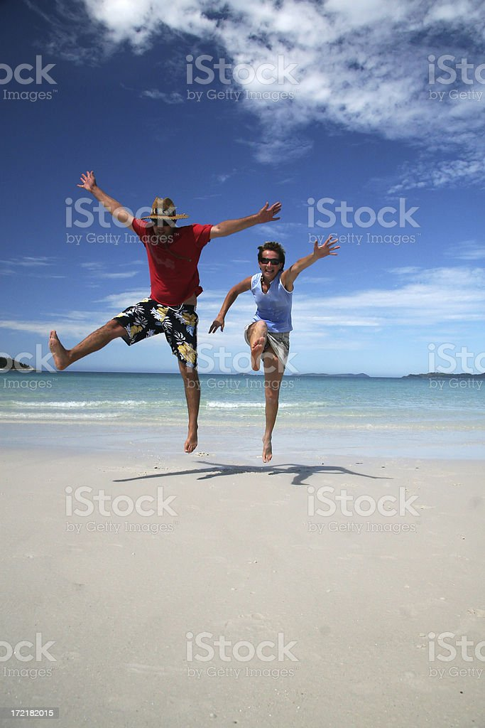 jumping couple royalty-free stock photo