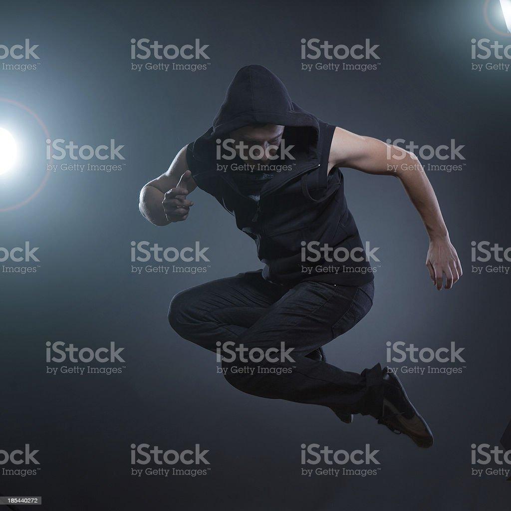 jumping dancer stock photo