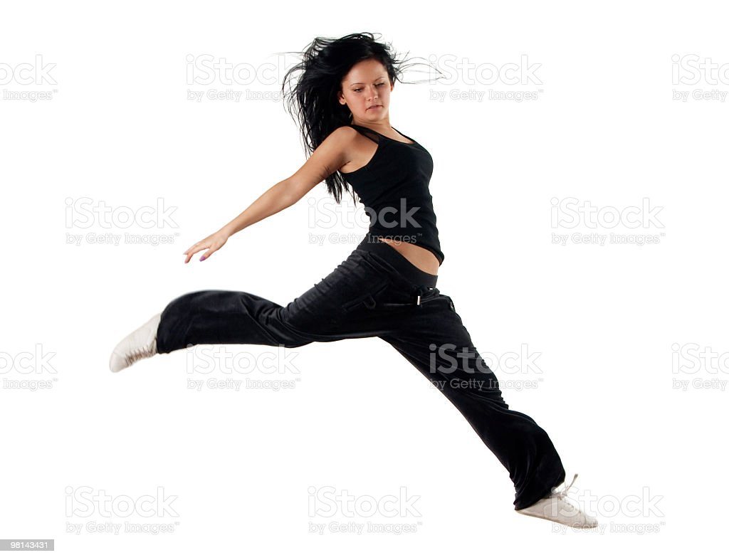 Jumping dancer royalty-free stock photo