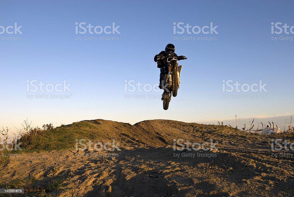 jumping dirtbike stock photo