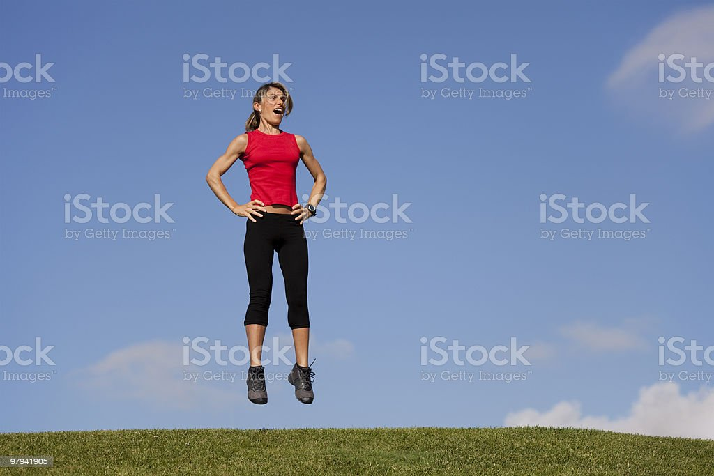 Jumping exercise royalty-free stock photo