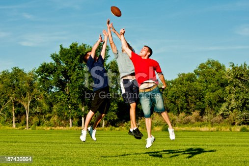 544818734 istock photo Jumping for Football 157436664
