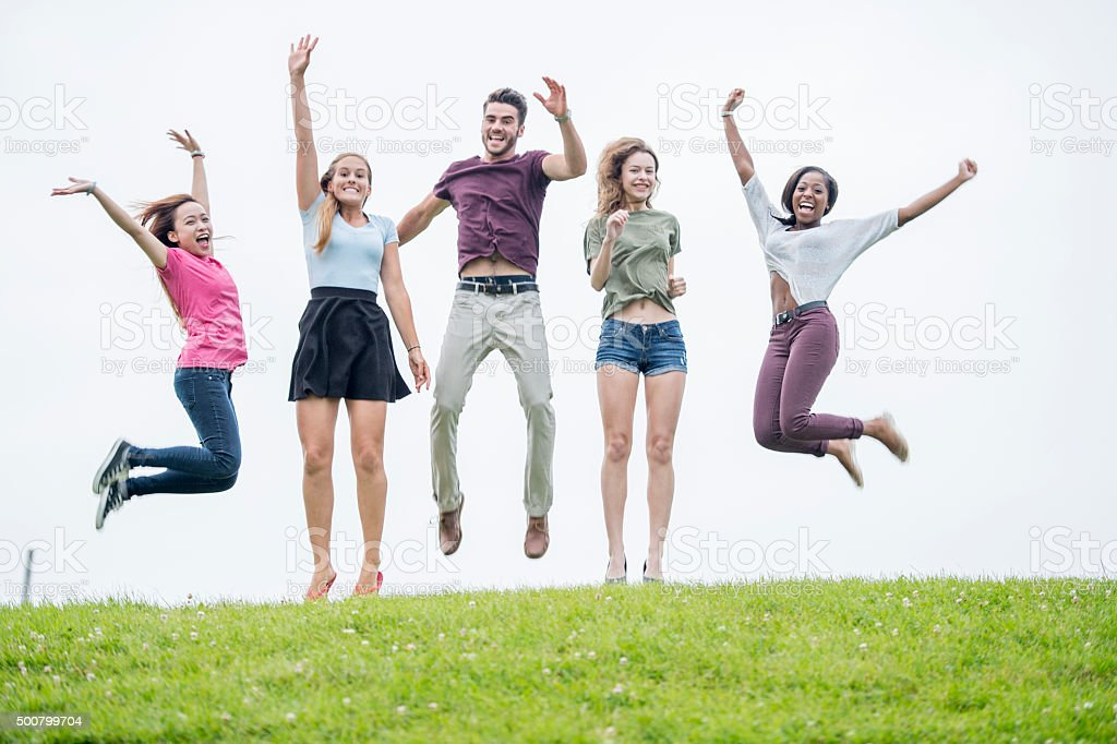 jumping for joy stock photo amp more pictures of 1819 years