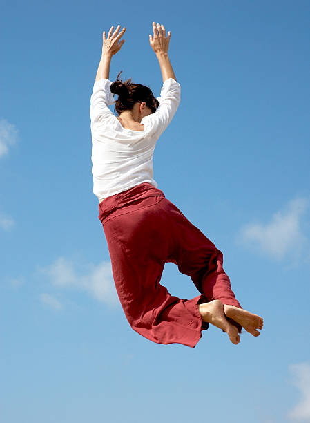 Jumping für Freude – Foto