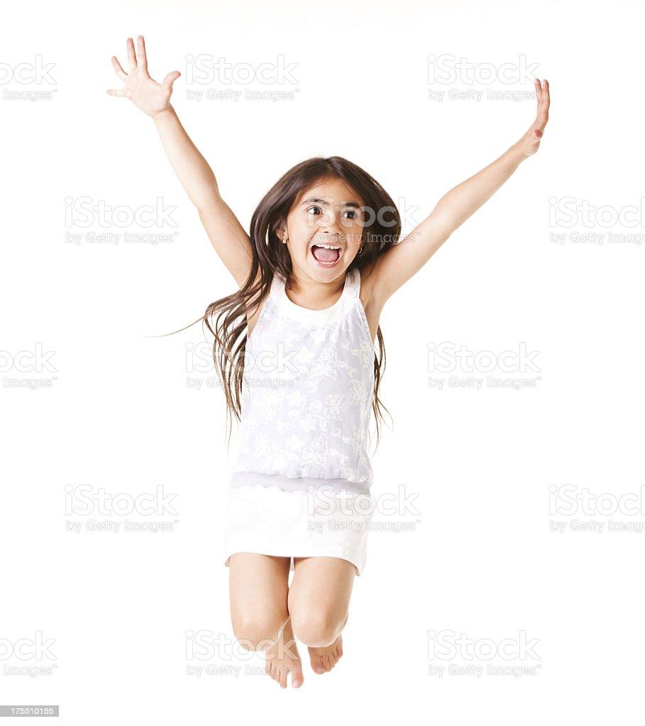 Jumping girl royalty-free stock photo