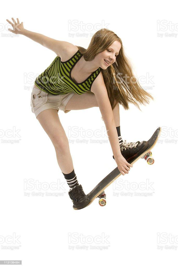 Springen Mädchen-Skaten. – Foto