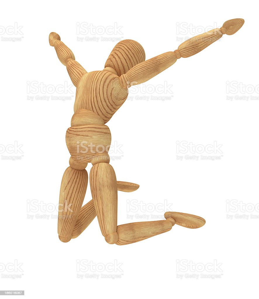 Jumping Happy Person royalty-free stock photo