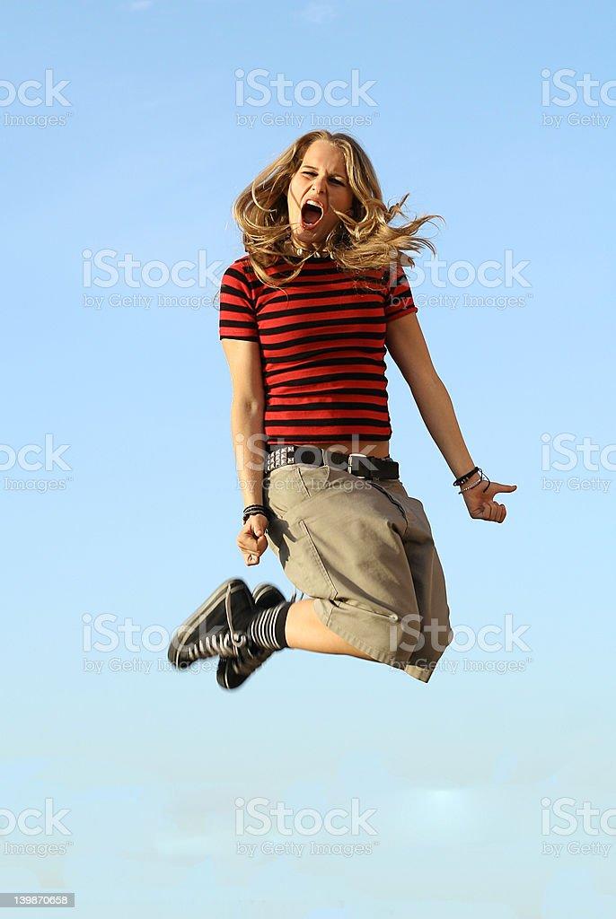jumping high (series) royalty-free stock photo