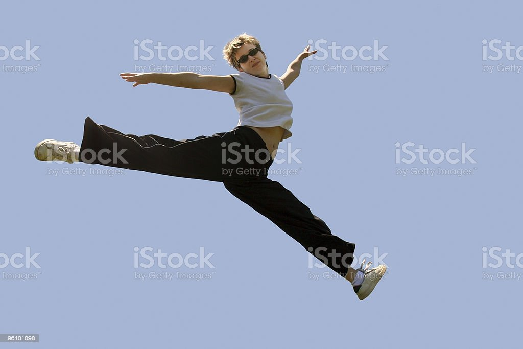 Jumping high - Royalty-free Agility Stock Photo