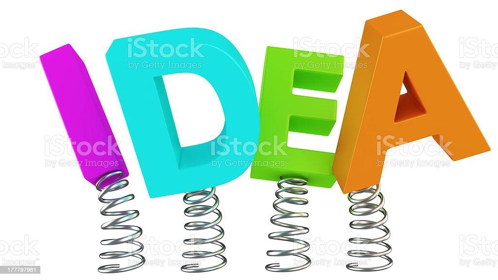 Jumping Idea royalty-free stock photo