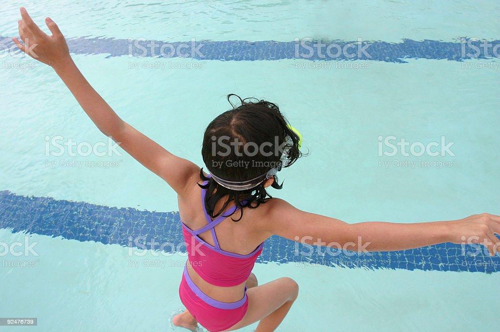 Jumping In Lizenzfreies stock-foto