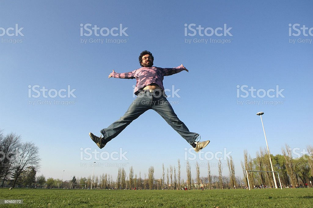 jumping in the sky - 9 royalty-free stock photo