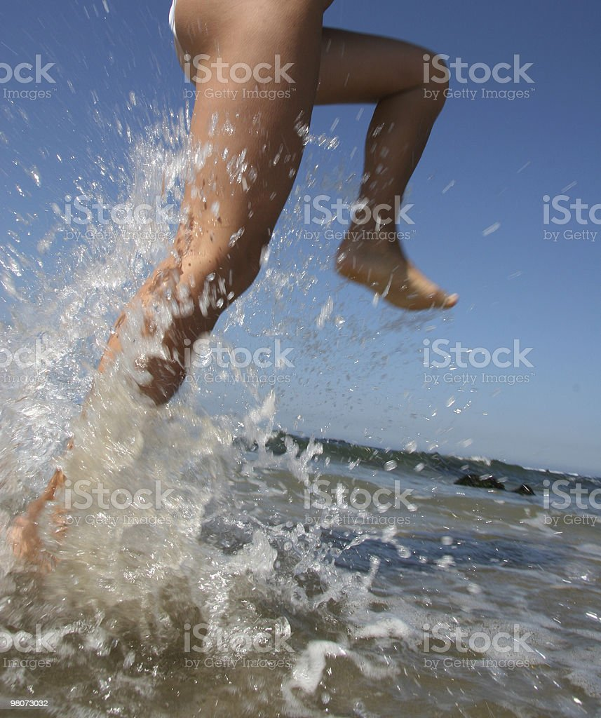 Saltare in acqua foto stock royalty-free