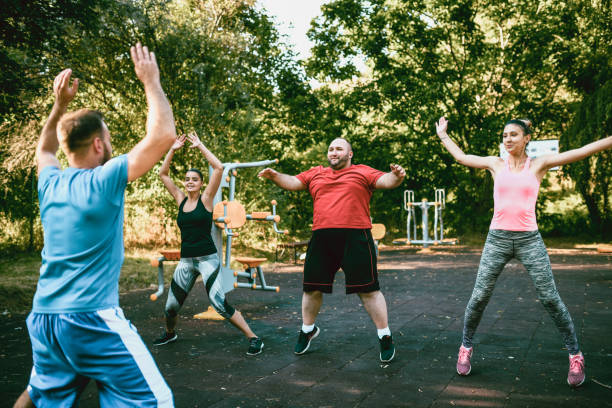 Jumping Jacks For Blood Flow stock photo