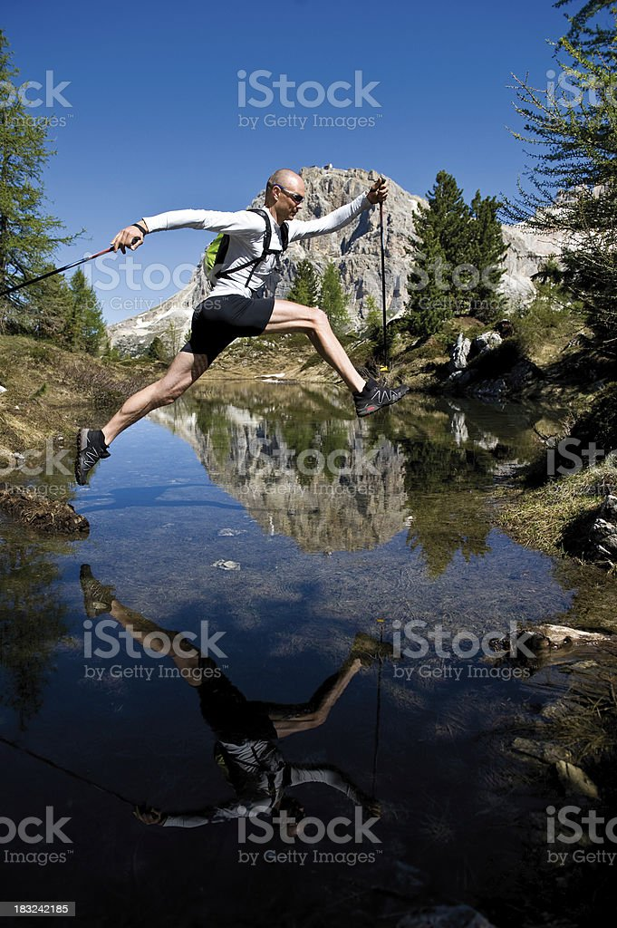 jumping man royalty-free stock photo