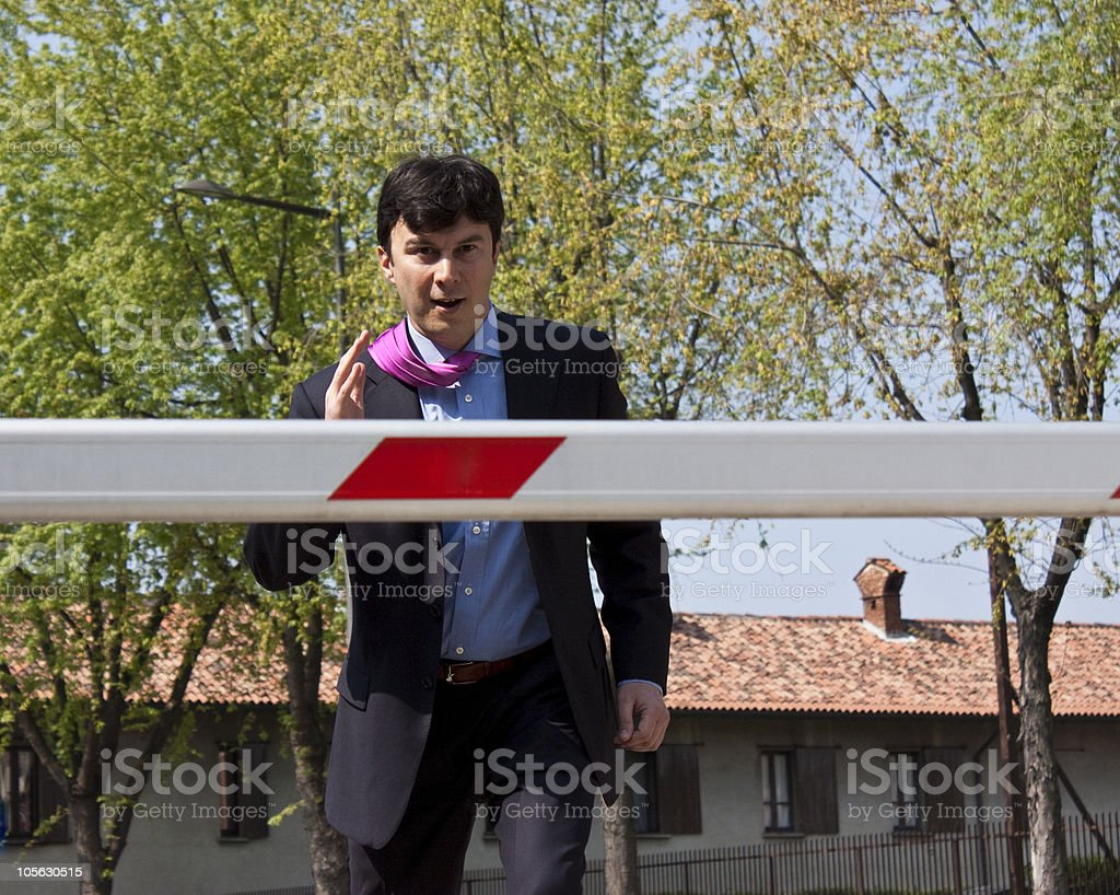 Jumping Manager royalty-free stock photo