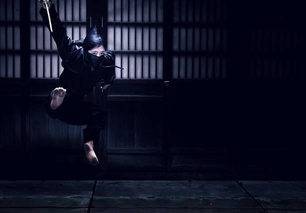 salto ninja - ninja fotografías e imágenes de stock