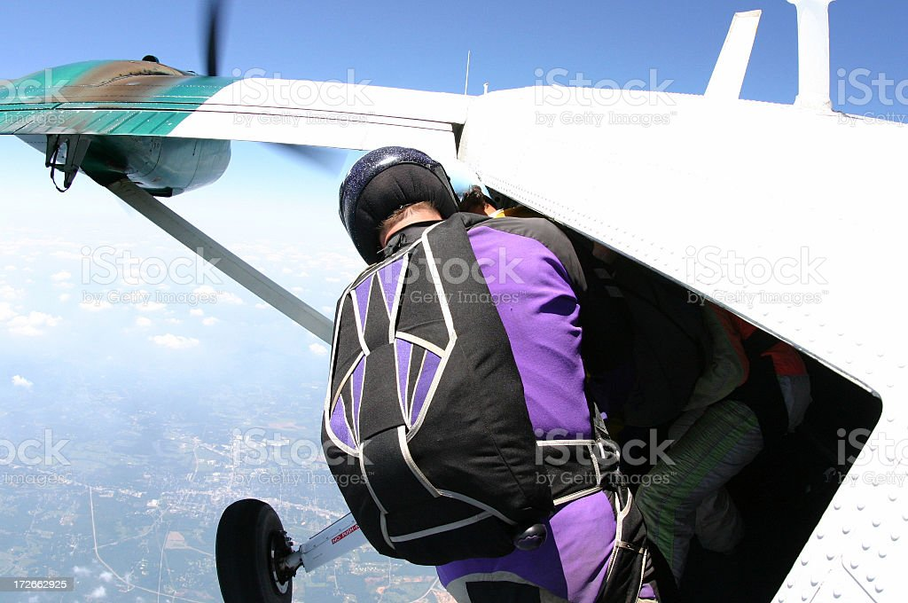 Jumping out of a perfectly good plane. royalty-free stock photo