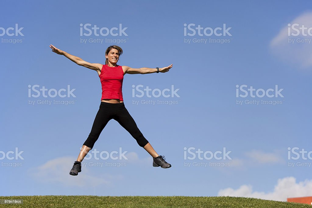 Jumping outdoor royalty-free stock photo