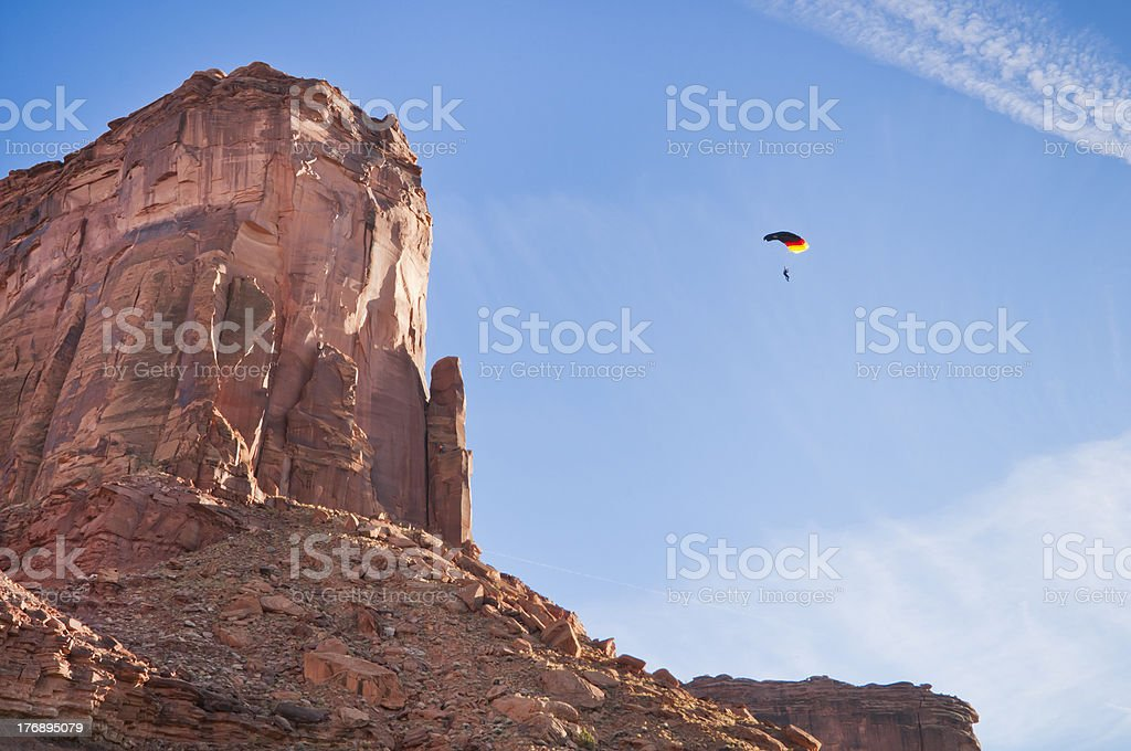 BASE Jumping royalty-free stock photo