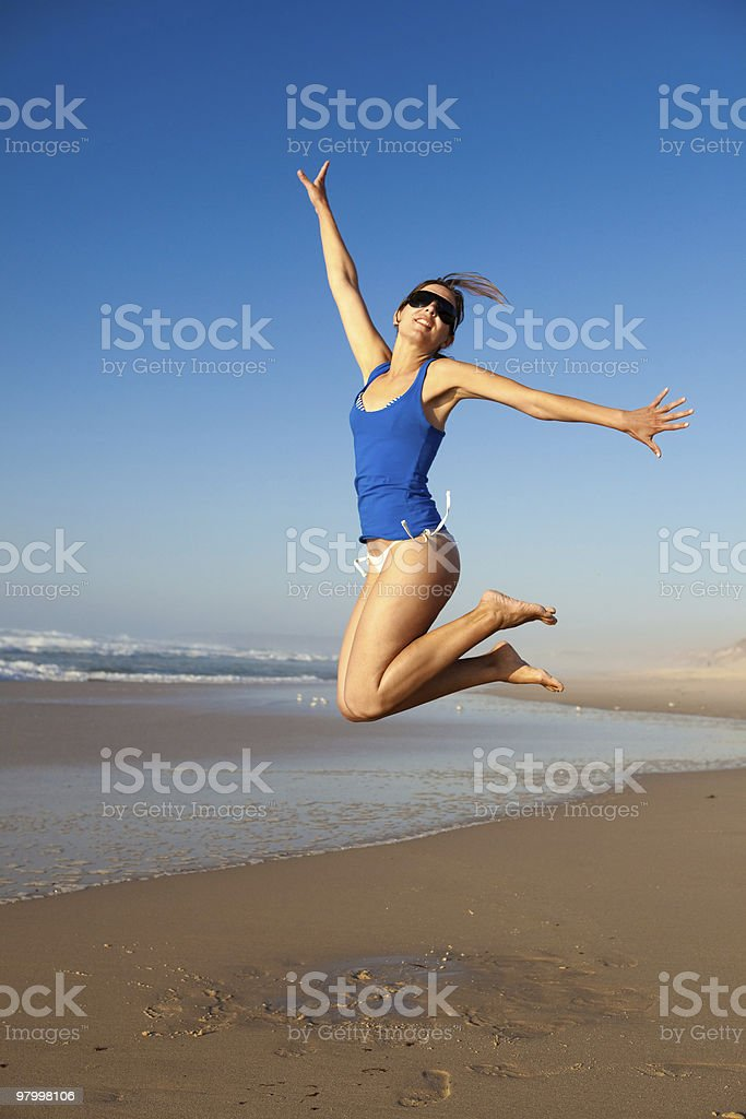 Jumping royalty free stockfoto